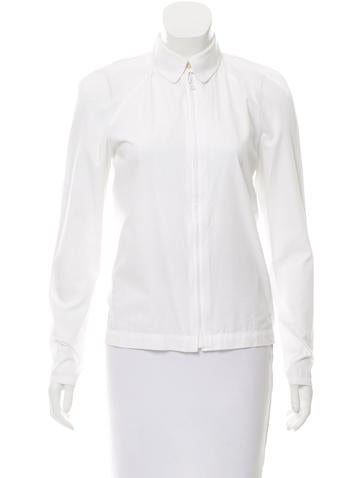 Cacharel Long Sleeve Zip-Up Top None