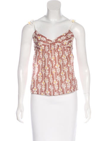 Cacharel Floral Print Sleeveless Top None