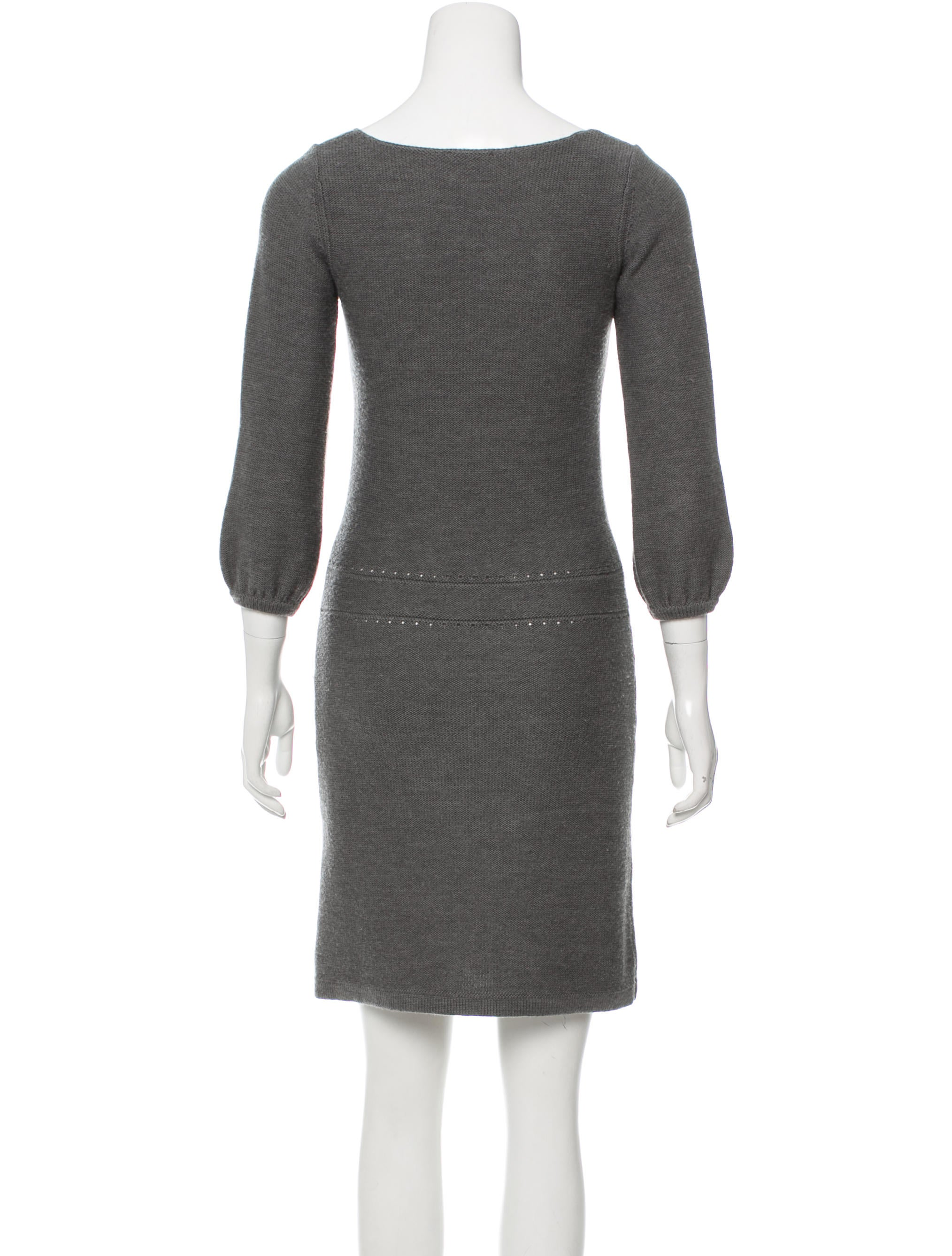 Cacharel merino wool sweater dress clothing cac21671 for Merino wool shirt womens