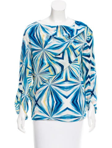 Cacharel Printed Silk Top None