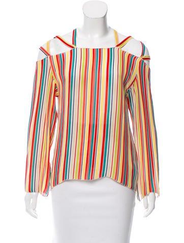 Cacharel Striped Silk Top None