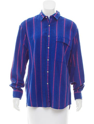 Cacharel Long Sleeve Button-Up Top None