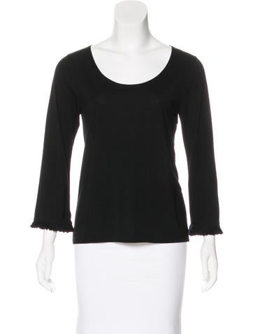 Cacharel Jersey Long Sleeve Top None