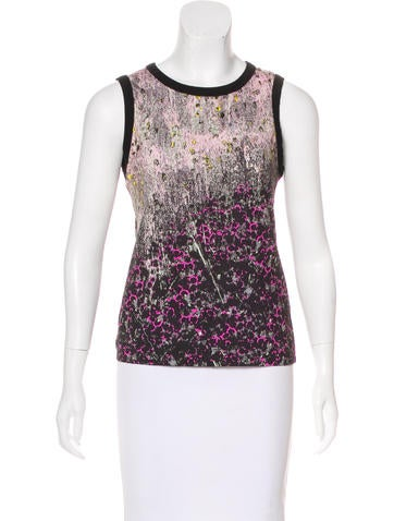 Cacharel Printed Sleeveless Top w/ Tags None