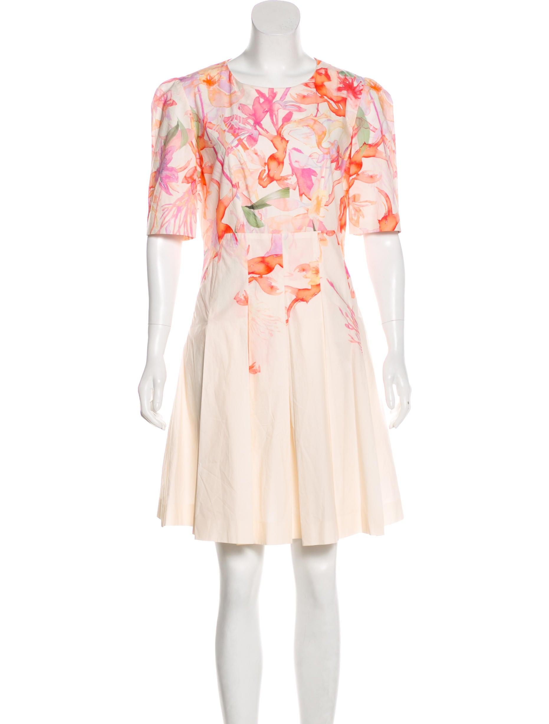 fb5d7308202 Cacharel Floral Print Knee-Length Dress - Clothing - CAC22287 | The ...