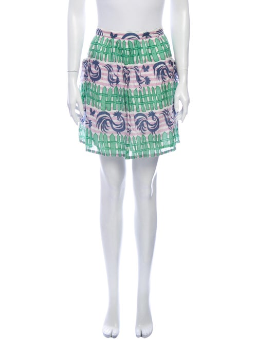 Cacharel Printed Mini Skirt Purple