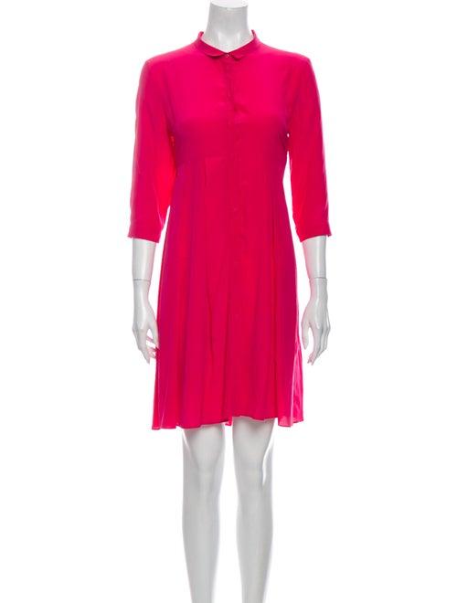 Cacharel Silk Mini Dress Pink