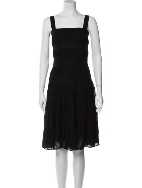 Cacharel Silk Knee-Length Dress Black