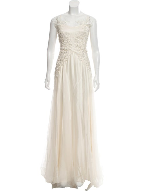 Catherine Deane Embroidered Mesh Gown