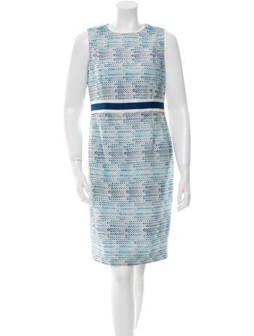 Carmen Marc Valvo Textured Knee-Length Dress None