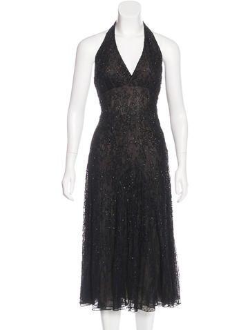 Carmen Marc Valvo Embellished Evening Dress None