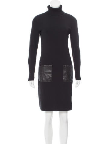 Carmen Marc Valvo Ribbed Sweater Dress None