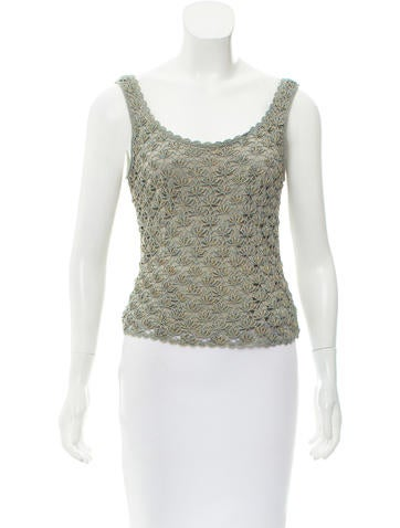 Carmen Marc Valvo Sleeveless Knit Top None
