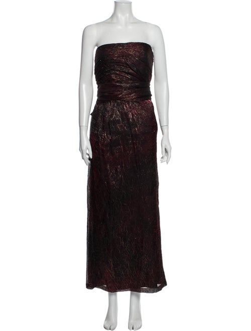 Carmen Marc Valvo Strapless Long Dress