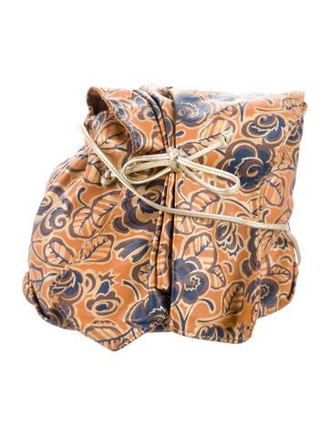 Carlos Falchi Floral Print Leather Crossbody Bag - Handbags - CAF21430   The RealReal