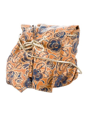 Carlos Falchi Floral Print Leather Crossbody Bag - Handbags - CAF21430 | The RealReal