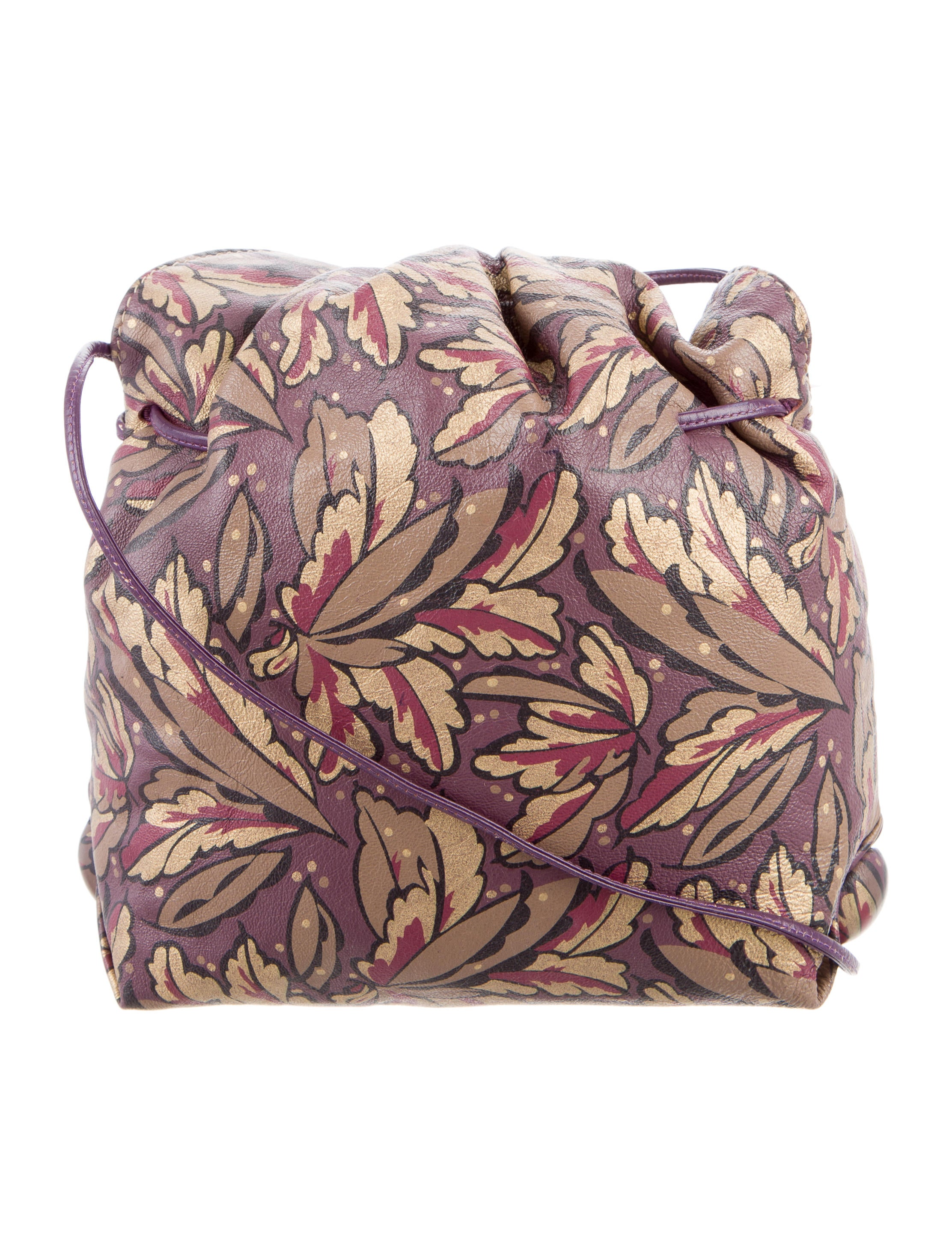 Carlos Falchi Floral Print Leather Crossbody Bag - Handbags - CAF21431 | The RealReal