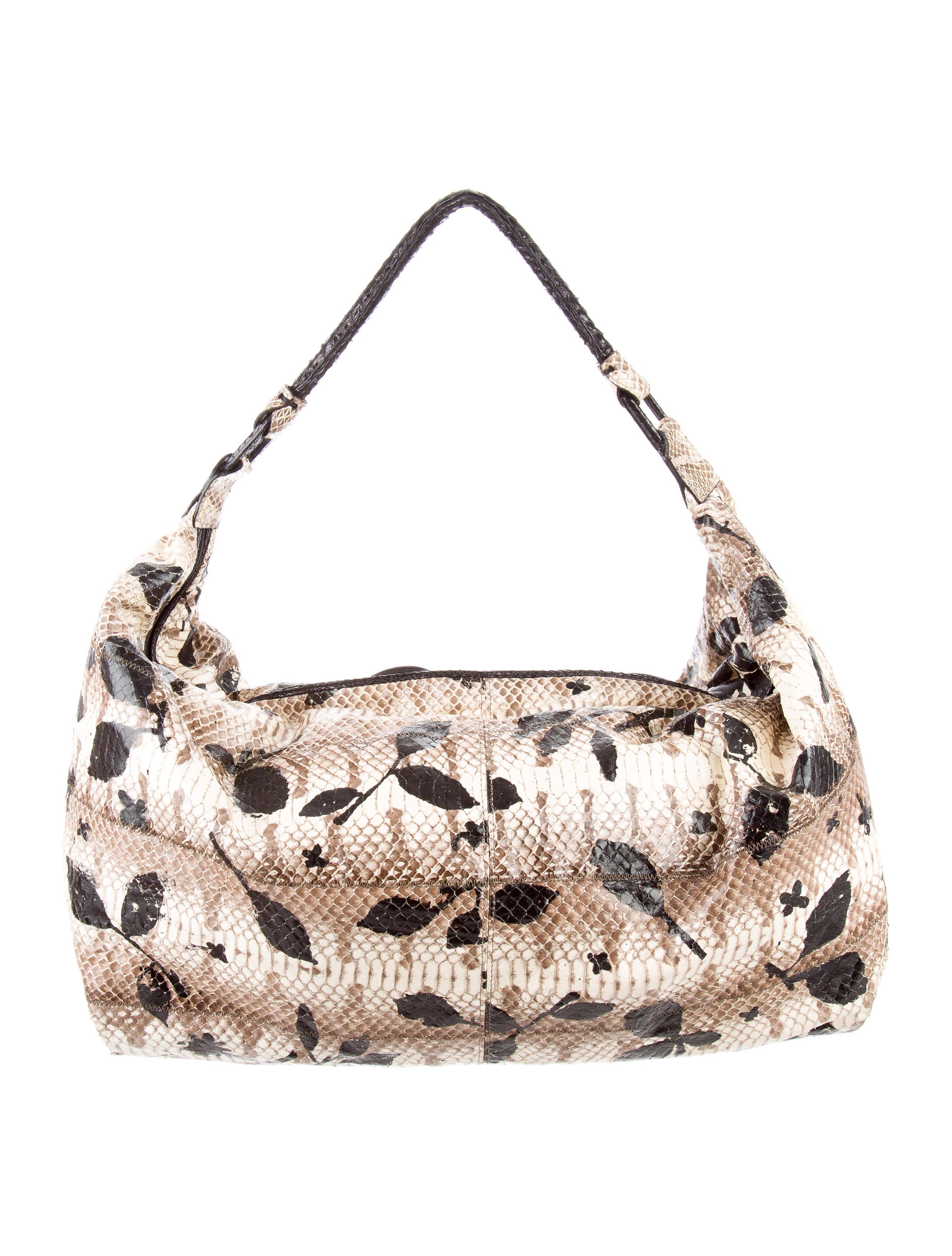 Carlos Falchi Snakeskin Hobo Bag - Handbags - CAF21468 | The RealReal