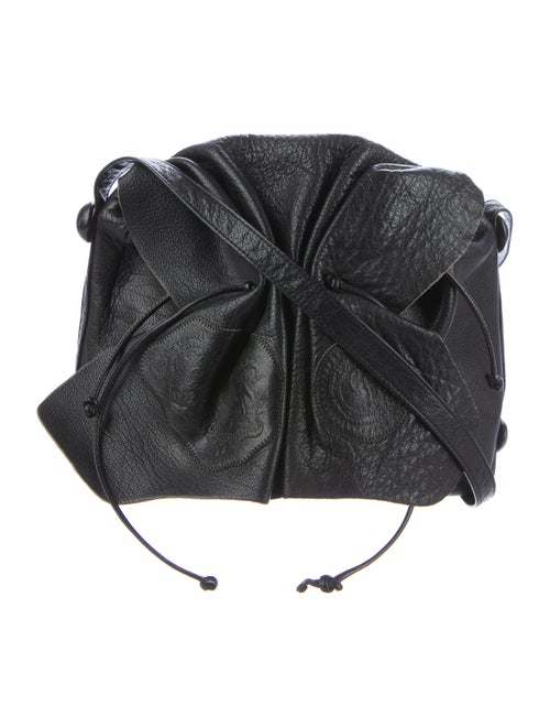 Carlos Falchi Butterfly Crossbody Bag Black
