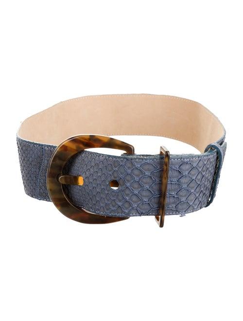 Carlos Falchi Snakeskin Waist Belt