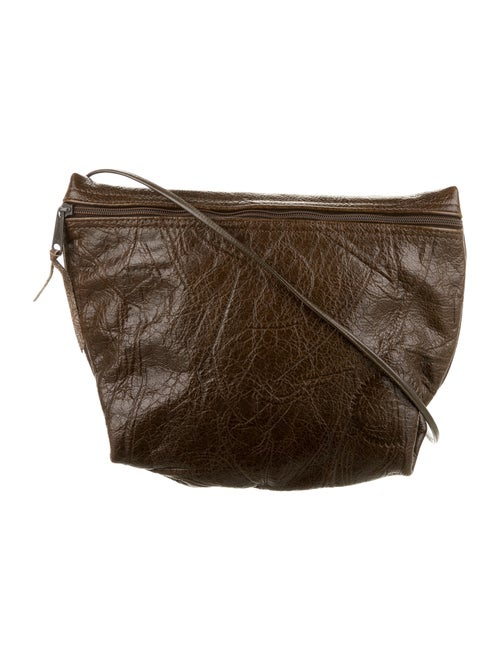 Carlos Falchi Leather Crossbody Bag Brown