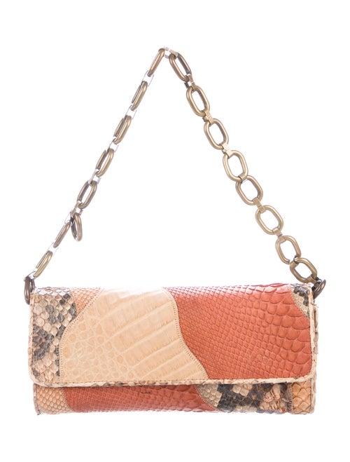 Carlos Falchi Leather Shoulder Bag Gold