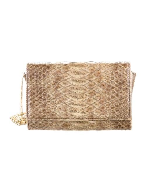 Carlos Falchi Embossed Leather Bag Gold