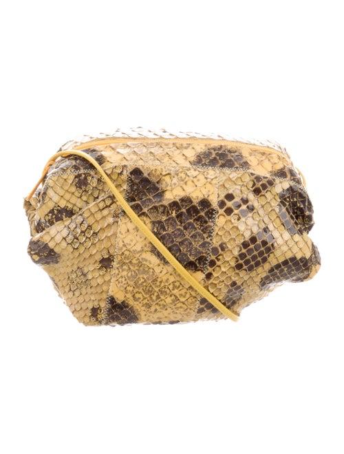 Carlos Falchi Leather Crossbody Bag Yellow