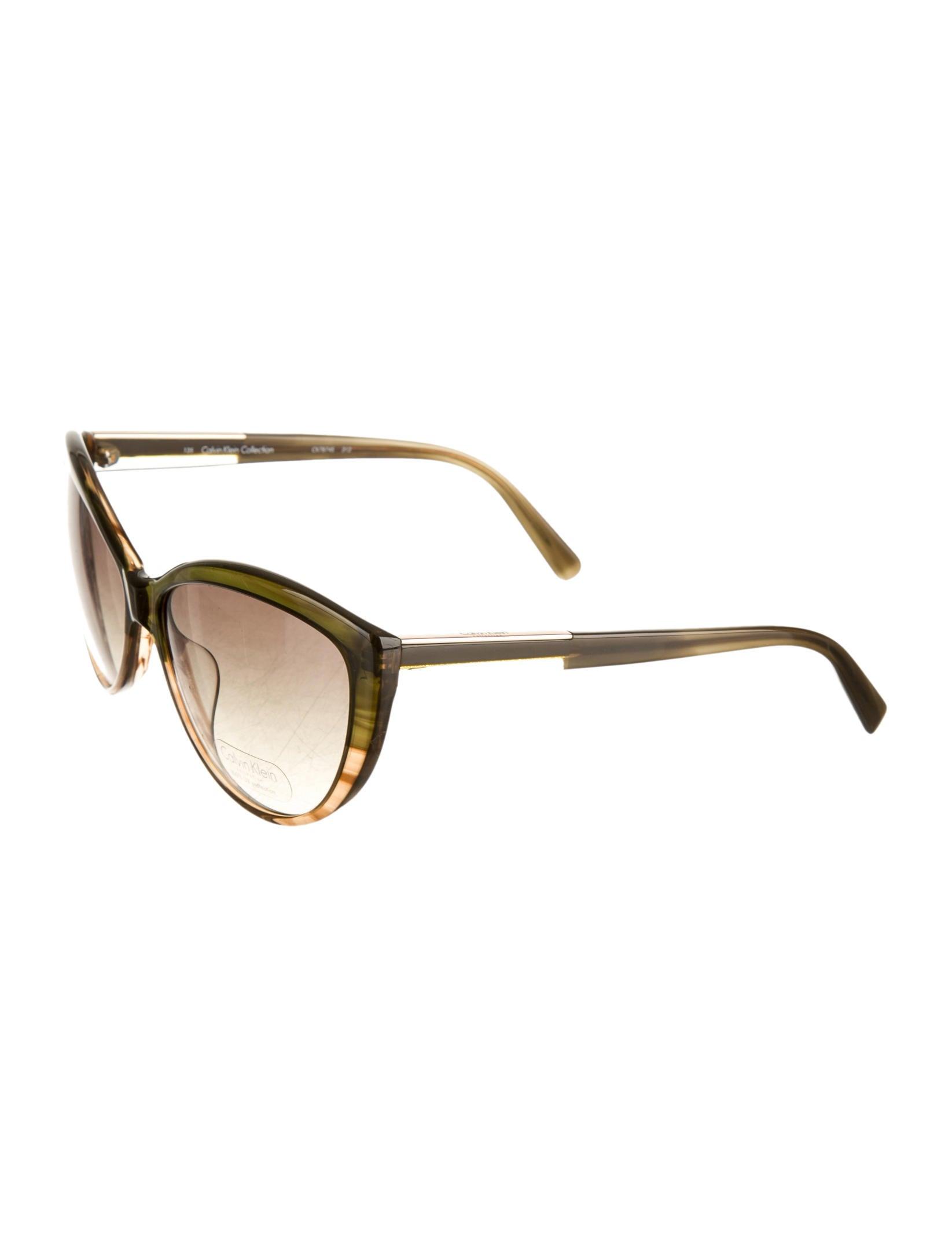 Calvin Klein Cat Eye Sunglasses  calvin klein collection cat eye sunglasses accessories