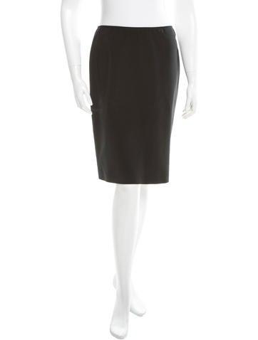 Calvin Klein Collection Silk A-Line Skirt None