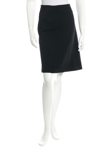 Calvin Klein Collection Rib Knit Knee-Length Skirt None