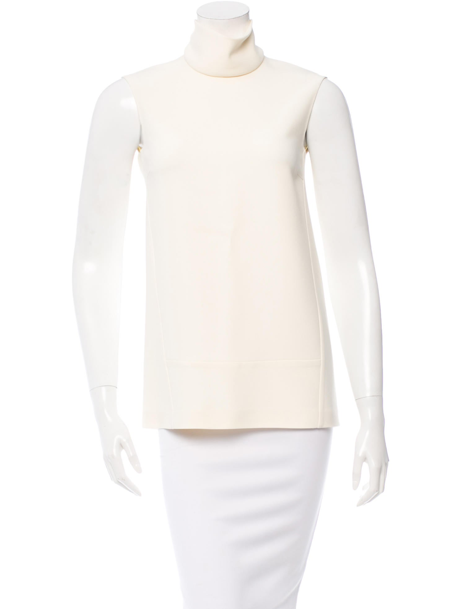 Calvin klein collection sleeveless mock turtleneck top for Sleeveless mock turtleneck shirts