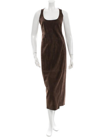 Calvin Klein Collection Suede Midi Dress w/ Tags None