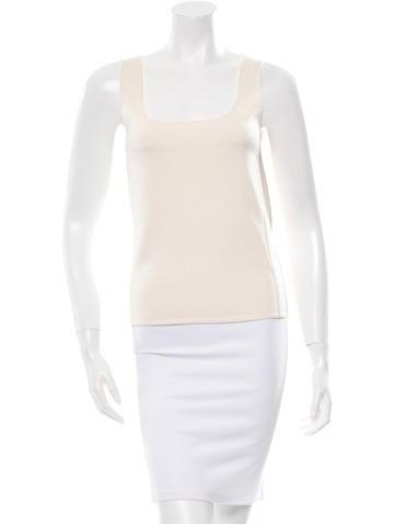Calvin Klein Collection Sleeveless Knit Top None