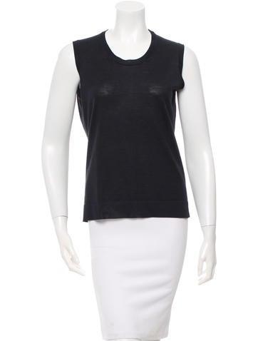 Calvin Klein Collection Wool & Silk-Blend Top None