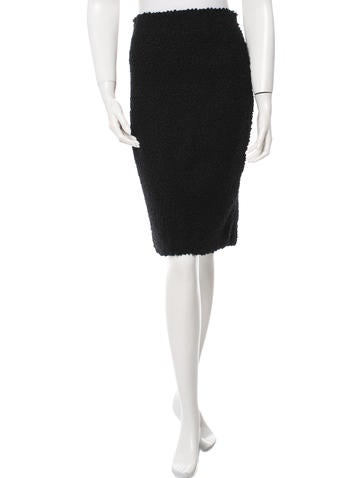 Calvin Klein Collection Bouclé Wool Skirt None