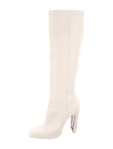 Calf Hair Square-Toe Boots