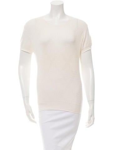 Calvin Klein Collection Cashmere-Blend Crew Neck Top None