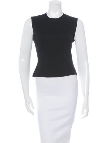 Calvin Klein Collection Sleeveless Fitted Top None