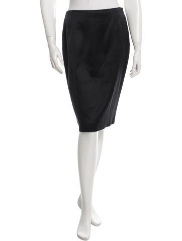 Calvin Klein Collection Wool & Silk-Blend Skirt None