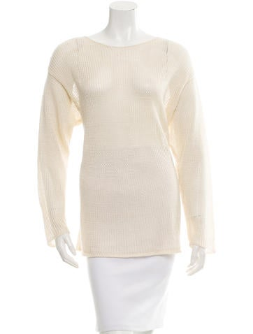 Calvin Klein Collection Open Knit Long Sleeve Sweater None