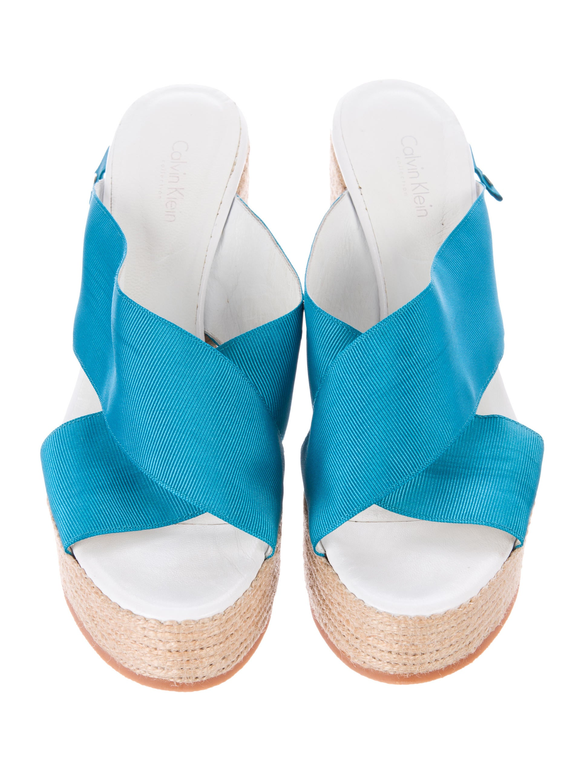 calvin klein collection espadrille wedge sandals shoes