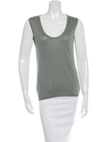 Calvin Klein Collection Cashmere & Silk-Blend Top None