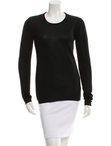 Calvin Klein Collection Silk-Blend Scoop Neck Knit None