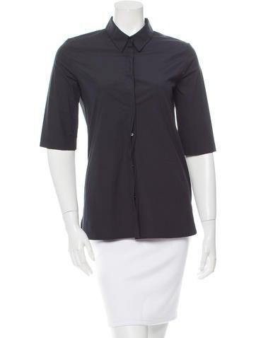 Calvin Klein Collection Black Button-Up Top