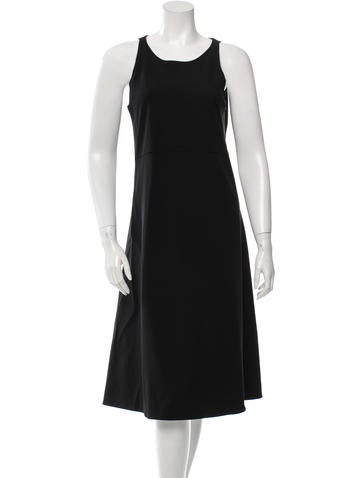Calvin Klein Collection Wool Midi Dress None