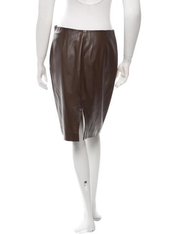 calvin klein collection soft leather skirt clothing