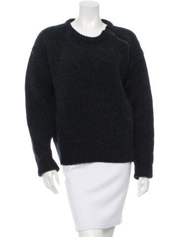 Calvin Klein Collection Rib Knit Wool Sweater None