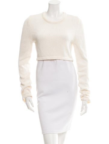 Calvin Klein Collection Knit Cropped Sweater w/ Tags None