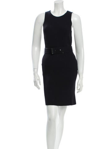 Calvin Klein Collection Belted Knit Dress